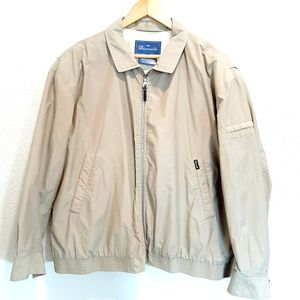 Faconnable Tan Zip Up Jacket Men's Size Large